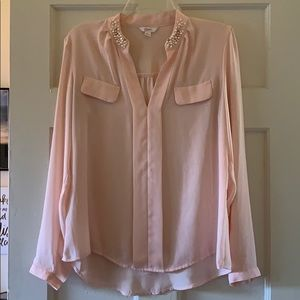 Light Pink Candie's Blouse | Size L